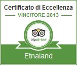 Etnaland vincitore del certificato di eccellenza Tripadvisor 2013