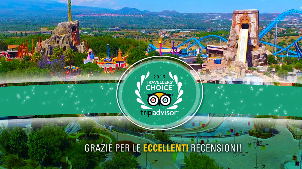Etnaland vincitore, per il settimo anno di fila, il premio Travellers'Choice 2019 di TripAdvisor